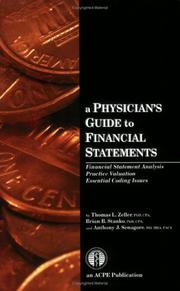 Cover of: A Physician's Guide to Financial Statements | Thomas L Zeller