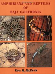 Cover of: Amphibians and Reptiles of Baja California by Ronald H. McPeak