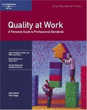 Cover of: Quality at work by Diane Bone