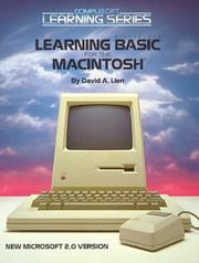 Cover of: Learning Microsoft BASIC for the Macintosh by David A. Lien