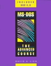 Cover of: MS-DOS by David A. Lien