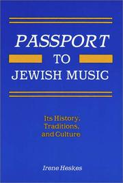Cover of: Passport to Jewish Music (Ethnic and Immigration History Series) by Irene Heskes