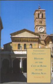 Cover of: History of the City of Rome in the Middle Ages, Vol. 4, 1003-1199 | Ferdinand Gregorovius
