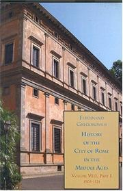 Cover of: History of the City of Rome in the Middle Ages, Vol. 8, 1503-1534 | Ferdinand Gregorovius