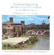 Cover of: History of the City of Rome in the Middle Ages, Vol. 4, 1003-1199 (for Macintosh) | Ferdinand Gregorovius