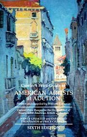 Cover of: Currier's Price Guide to American Artists at Auction (Currier's Price Guide to American Artists at Auction, 6th ed) by William T. Currier