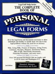 Cover of: The complete book of personal legal forms | Dan Sitarz
