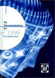 Cover of: The Telecommunications Act of 1996 | Bob Emeritz