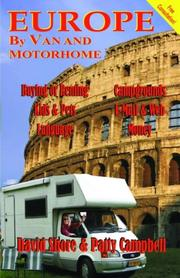 Cover of: Europe by Van and Motorhome | David Shore and Patty Campbell