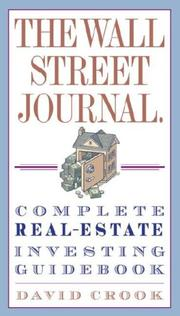 Cover of: The Wall Street Journal. Complete Real-Estate Investing Guidebook | David Crook