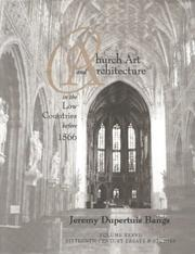 Cover of: Church art and architecture in the Low Countries before 1566 by Jeremy Dupertuis Bangs