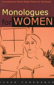 Cover of: Monologues for Women | Susan Pomerance
