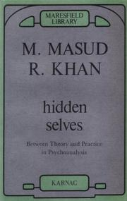 Cover of: Hidden Selves by M. Masud R. Khan