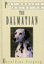 Cover of: DALMATIAN (Pet Owner's Guide) | M. Gregory