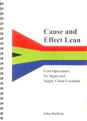 Cover of: Cause and Effect Lean | John Bicheno