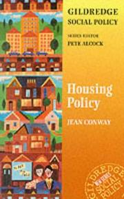 Cover of: Housing Policy (Gildredge Social Policy S.) | Jean Conway