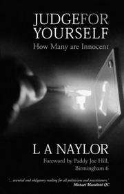 Cover of: Judge for Yourself | Lesley A. Naylor