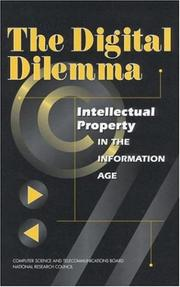 Cover of: The Digital Dilemma | National Research Council.