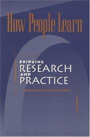 Cover of: How People Learn by National Research Council.