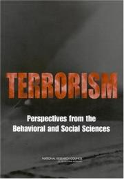 Cover of: Terrorism | National Research Council.