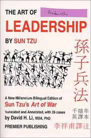 Cover of: Art of Leadership by Sun Tzu - A New-Millennium Bilingual Edition of Sun Tzu's Art of War | Sun-Zi