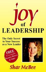 Cover of: Joy of Leadership | Shar McBee