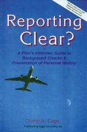 Cover of: Reporting Clear? by Cheryl A. Cage