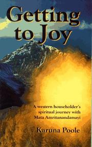 Cover of: Getting to Joy by Karuna Poole