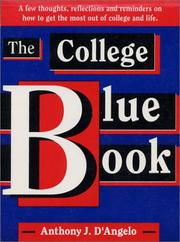 Cover of: The College Blue Book by Anthony J. D'Angelo