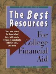 Cover of: The Best Resources for College Financial Aid 1996/97 | Resource Pathways