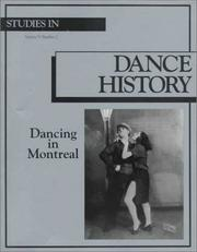 Cover of: Dancing in Montreal by Iro. Tembeck