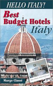 Cover of: Hello Italy!  The Best Budget Hotels in Italy | Margo Classe