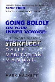 Cover of: Going Boldly on Your Inner Voyage | Mark Haskett