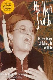 Cover of: No, I Won't Shut Up! | Coretta Scott King