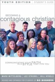 Cover of: Becoming a Contagious Christian Youth Edition Student's Guide by Lee Strobel