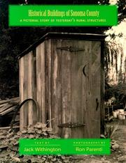 Cover of: Historical buildings of Sonoma County by Jack Withington
