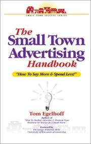 Cover of: The Small Town Advertising Handbook | Tom Egelhoff