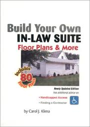 Cover of: Build your own in-law suite | Carol J. Klima