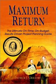 Cover of: Maximum return | Patrick J. Gregory