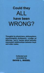 Cover of: Could They All Have Been Wrong? | David L. Riegel