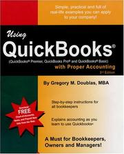 Cover of: Using QuickBooks with Proper Accounting | Gregory M. Doublas