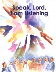 Cover of: Speak, Lord, I am Listening | Christine Haapaia