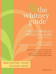 Cover of: The Whitney Guide- The Los Angeles Preschool Guide 2nd Edition by FIona Whitney