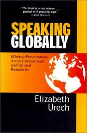 Cover of: Speaking Globally, Updated Revision | Elizabeth Urech