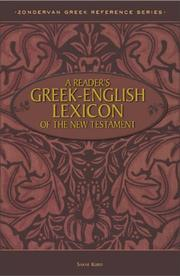 Cover of: Reader's Greek-English Lexicon of the New Testament, A by Mr. Sakae Kubo