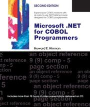 Cover of: Microsoft .NET for COBOL Programmers | Howard E. Hinman