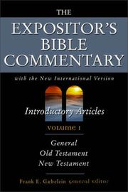 Cover of: The Expositor's Bible Commentary, Vol. 1 | Frank E. Gaebelein