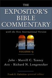 Cover of: The Expositor's Bible Commentary (Volume 9) - John and Acts | Frank E. Gaebelein