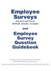 Cover of: Employee Surveys & Employee Survey Question Guidebook | Paul Connolly