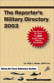 Cover of: The Reporter's Military Directory 2003 | Col Phil Johnson